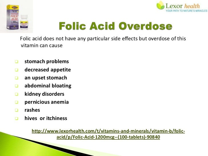 Folic Acid Supplements Lexor Health