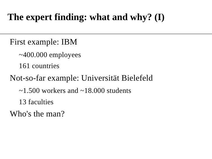 Expert Bielefeld a language modeling framework for expert finding