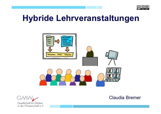 Claudia Bremer Hybride Lehrveranstaltungen