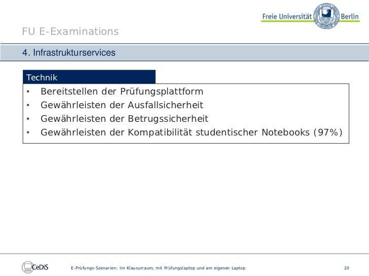 Prüfungs-Szenarien: Im Klausurraum, mit Prüfungslaptop und am ...