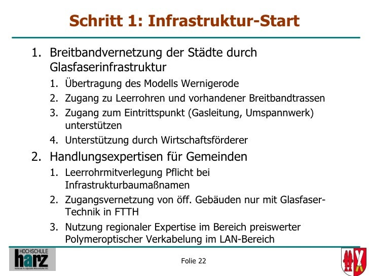 Schritt 1: Infrastruktur-Start 1. Breitbandvernetzung der Städte durch    Glasfaserinfrastruktur    1. Übertragung des Mod...