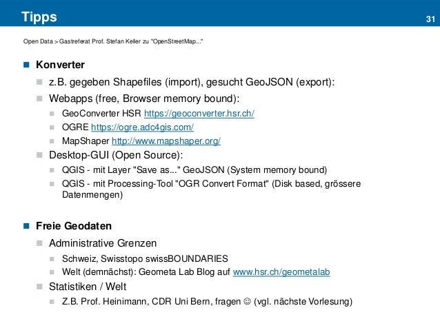 OpenStreetMap für Webkarten (