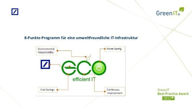 8-Punkte-Programm für eine umweltfreundliche IT-Infrastruktur
