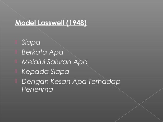 model komunikasi osgood Models of communication are conceptual models used to explain the human communication process the first major model for communication was developed in 1948 by claude.