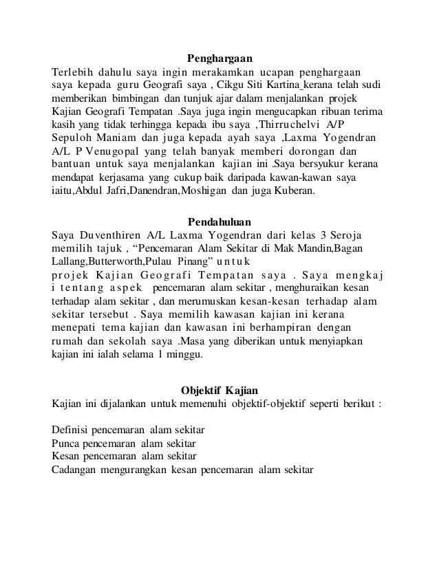 Contoh Pendahuluan Untuk Folio Arasmi