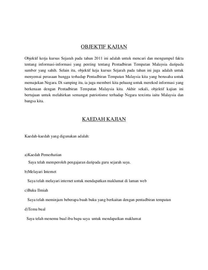 Folio Sejarah Tingkatan 3