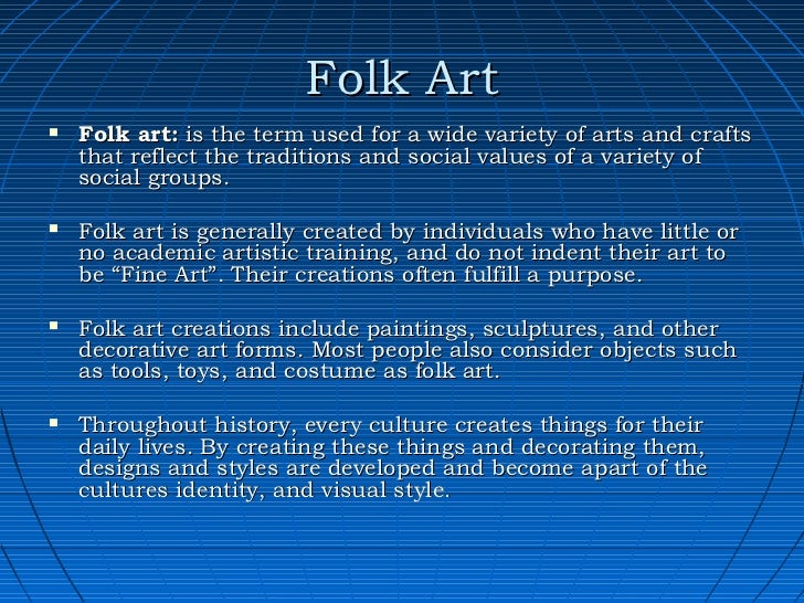 define folk art