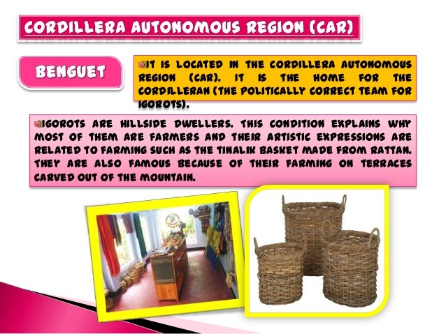 The people of Kalinga are also great weavers. Their cloth weaving and basketry are among the finest products in the region...