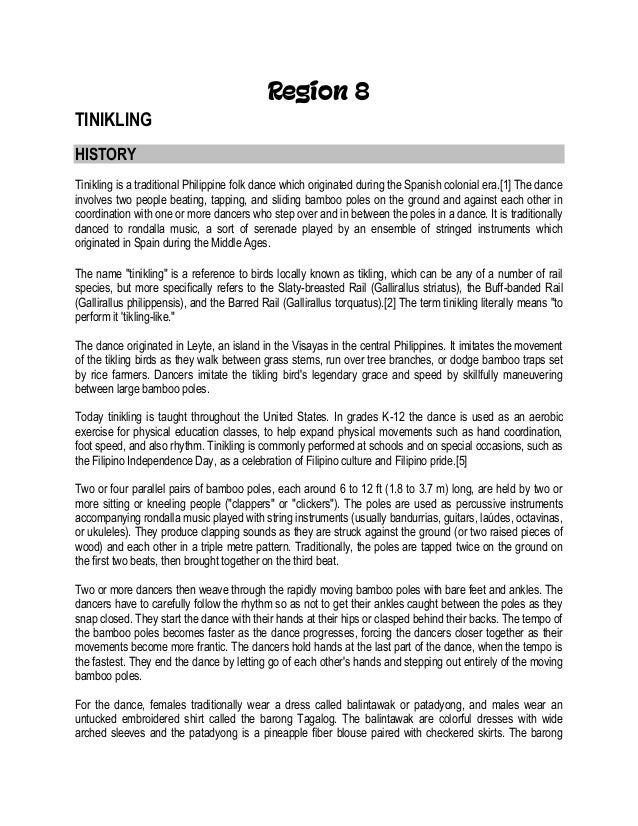 tinikling history tagalog