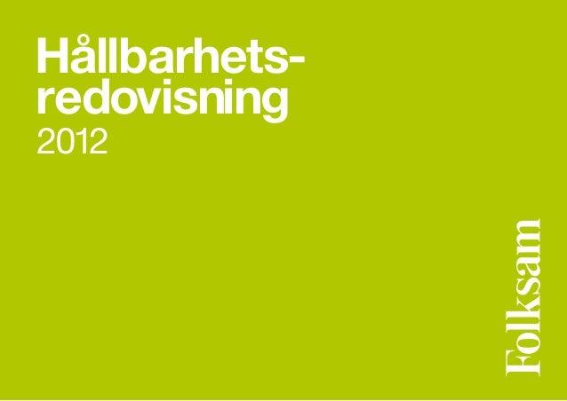 Hållbarhetsredovisning2012