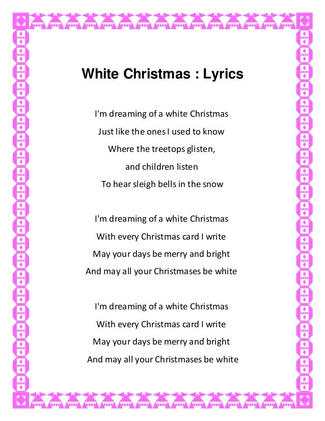 white christmas lyrics im dreaming - Im Dreaming Of A White Christmas Lyrics