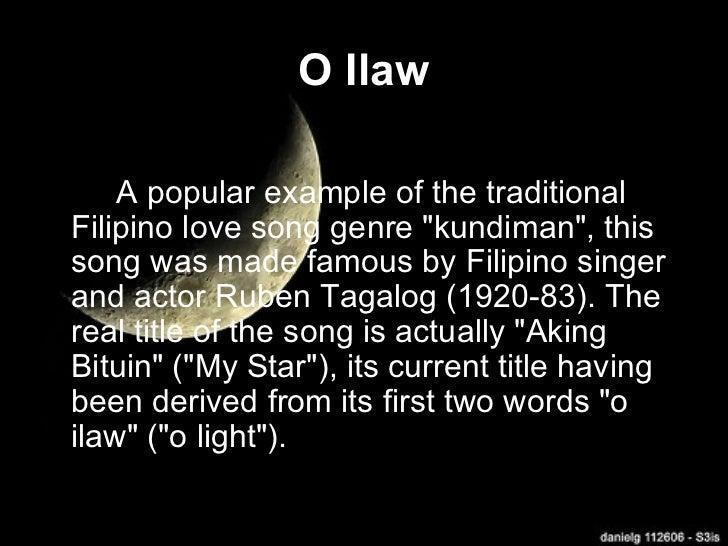 Tagalog love songs and lyrics