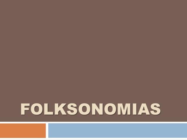 FOLKSONOMIAS