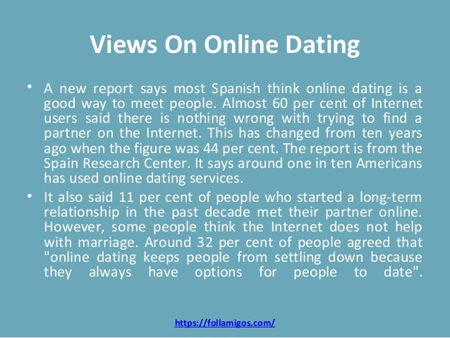 Views on online dating