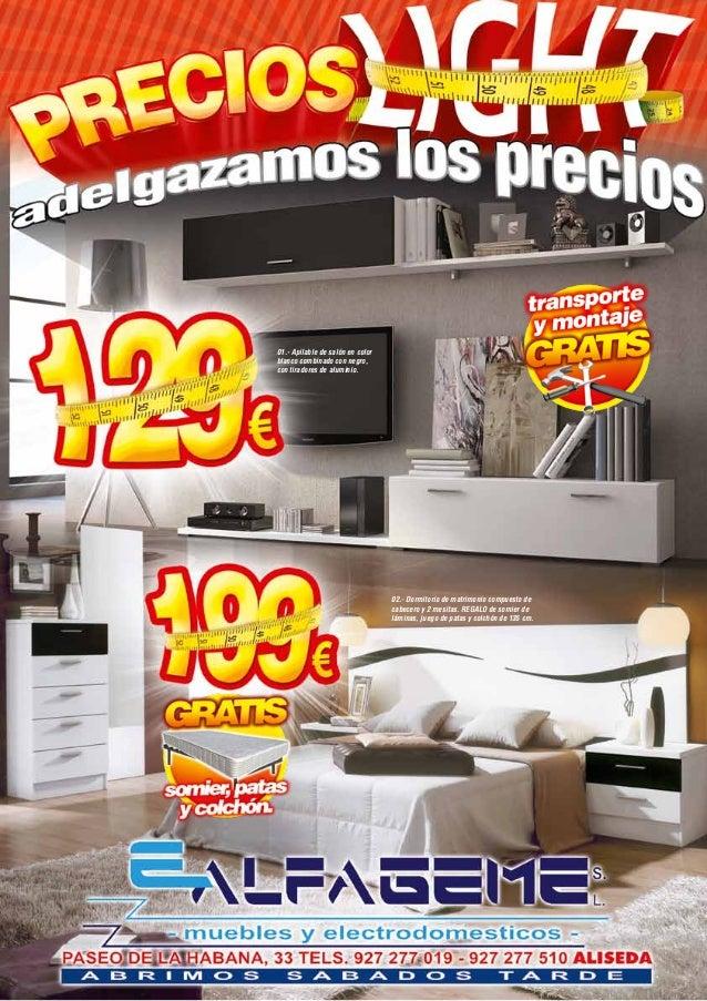 ofertas muebles alfageme