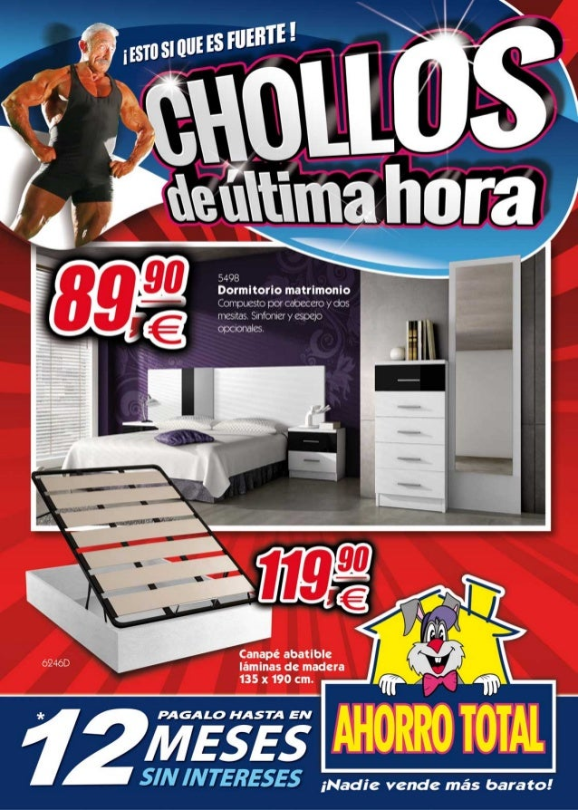 Ahorro total folleto de chollos for Dormitorios ahorro total