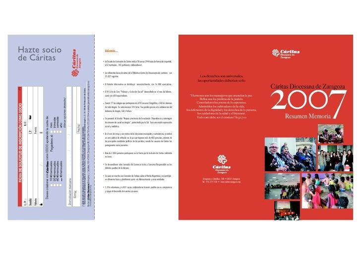 Hazte socio     Además...  de Cáritas    • La Escuela de Formación de Cáritas realizó 58 cursos (994 horas de formación im...