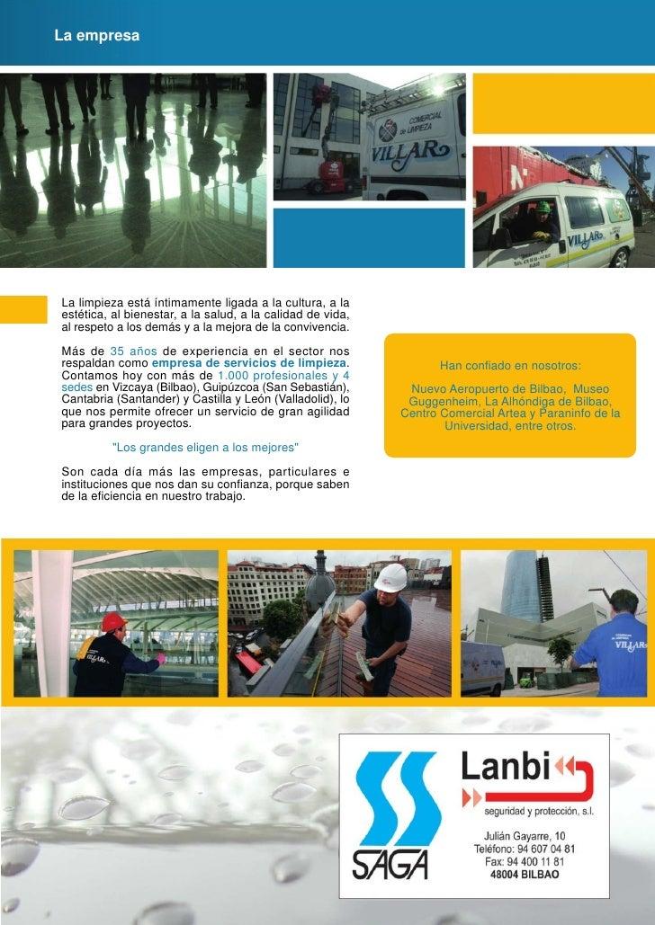 Folleto empresas limpieza for Empresas de limpieza en guipuzcoa