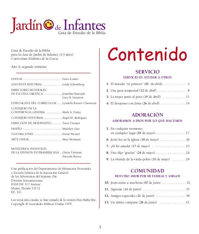 Guía de Estudio de la Biblia para la clase de Jardín de Infantes (3-5 años) Currículum Eslabones de la Gracia Año A, segun...