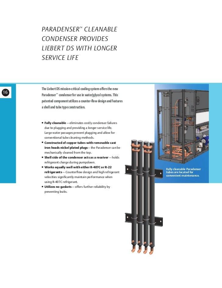 "folleto sli 18810 16 paradenser â""¢ cleanable condenser provides liebert"