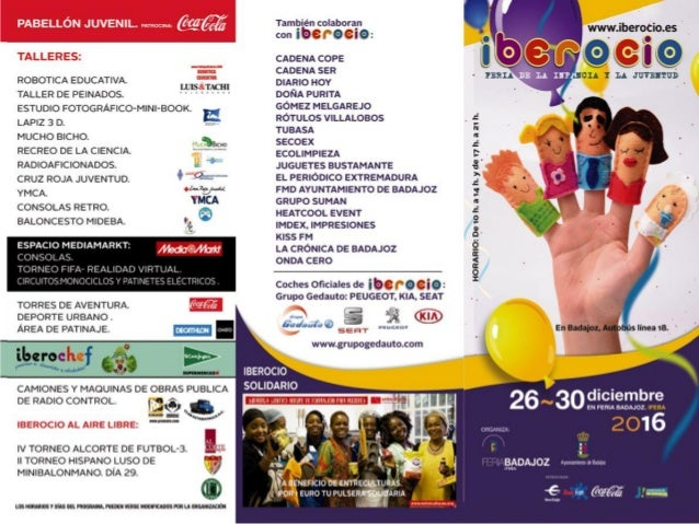 Folleto actividades IBEROCIO 2016