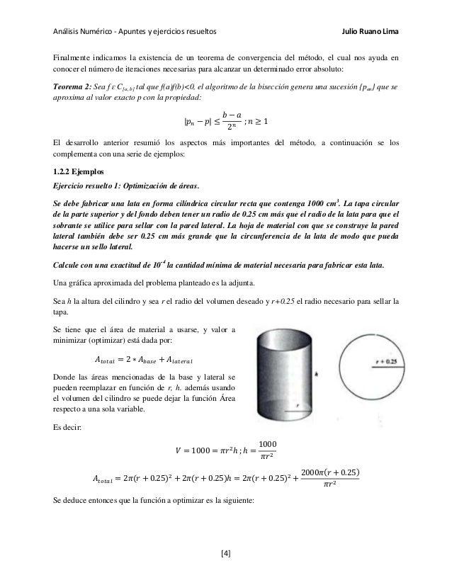 Análisis Numérico - Apuntes y ejercicios resueltos Julio Ruano Lima Finalmente indicamos la existencia de un teorema de co...
