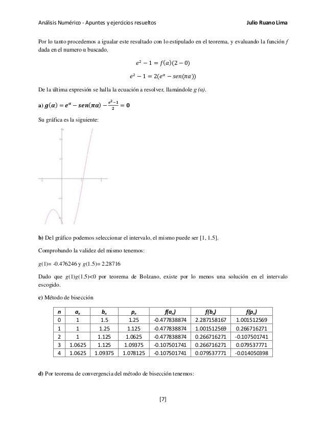 Análisis Numérico - Apuntes y ejercicios resueltos Julio Ruano Lima Por lo tanto procedemos a igualar este resultado con l...