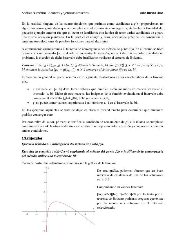 Análisis Numérico - Apuntes y ejercicios resueltos Julio Ruano Lima En la realidad ninguna de las cuatro funciones que pus...