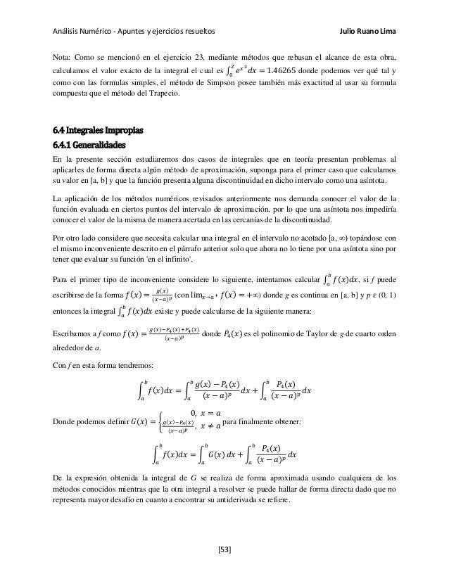 APUNTES Y EJERCICIOS RESUELTOS DE ANALISIS NUMERICO