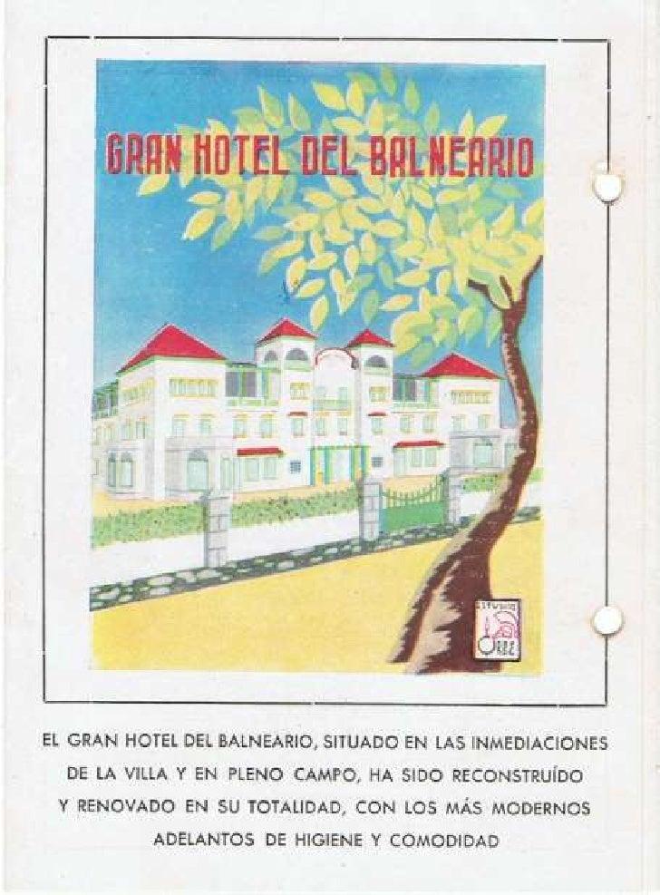 Folleto de publicidad del Balneario Años 40
