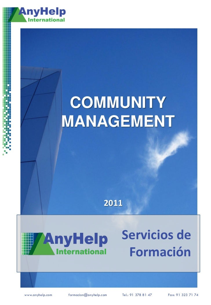 COMMUNITY                  MANAGEMENT                                     2011                                          Se...