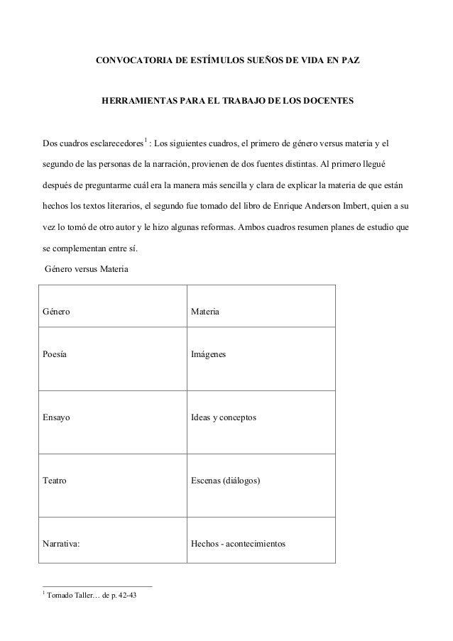CONVOCATORIA DE ESTÍMULOS SUEÑOS DE VIDA EN PAZ  HERRAMIENTAS PARA EL TRABAJO DE LOS DOCENTES  Dos cuadros esclarecedores1...