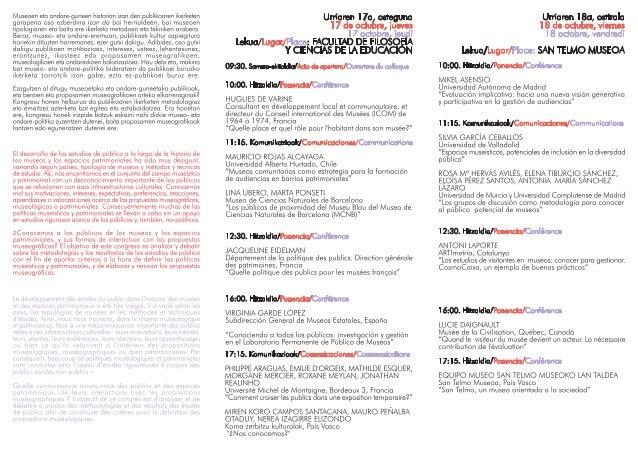 IX Congreso Museos y espacios patrimoniales. Conociendo a nuestros públicos