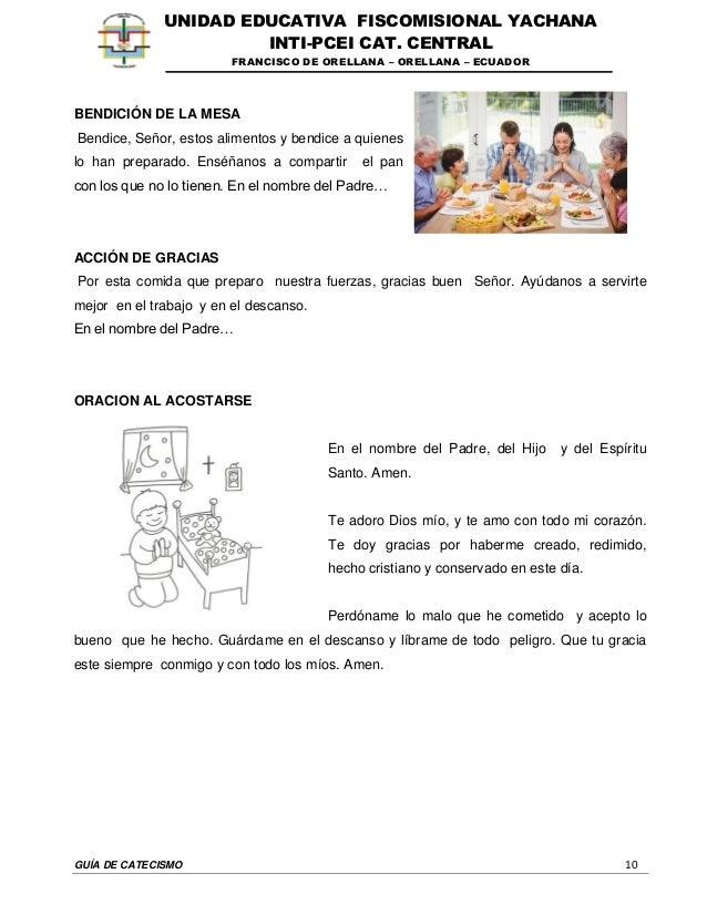 GUÍA DE CATECISMO 10 UNIDAD EDUCATIVA FISCOMISIONAL YACHANA INTI-PCEI CAT. CENTRAL FRANCISCO DE ORELLANA – ORELLANA – ECUA...