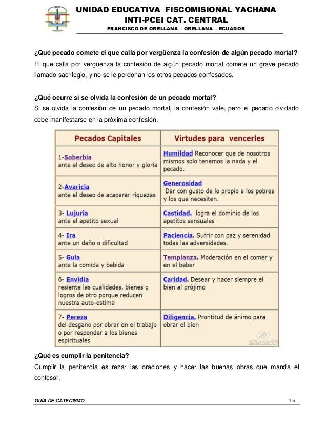 GUÍA DE CATECISMO 15 UNIDAD EDUCATIVA FISCOMISIONAL YACHANA INTI-PCEI CAT. CENTRAL FRANCISCO DE ORELLANA – ORELLANA – ECUA...
