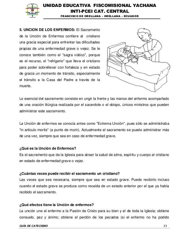 GUÍA DE CATECISMO 23 UNIDAD EDUCATIVA FISCOMISIONAL YACHANA INTI-PCEI CAT. CENTRAL FRANCISCO DE ORELLANA – ORELLANA – ECUA...