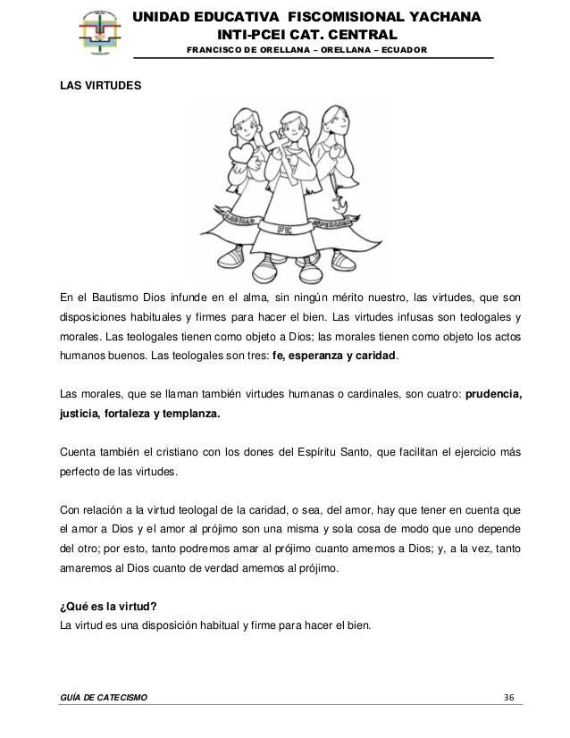 GUÍA DE CATECISMO 36 UNIDAD EDUCATIVA FISCOMISIONAL YACHANA INTI-PCEI CAT. CENTRAL FRANCISCO DE ORELLANA – ORELLANA – ECUA...