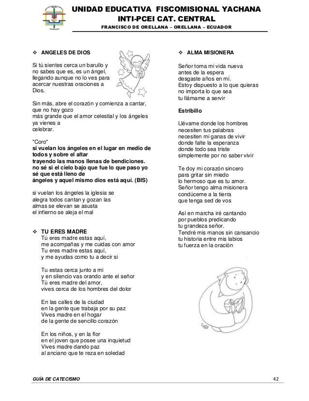 GUÍA DE CATECISMO 42 UNIDAD EDUCATIVA FISCOMISIONAL YACHANA INTI-PCEI CAT. CENTRAL FRANCISCO DE ORELLANA – ORELLANA – ECUA...