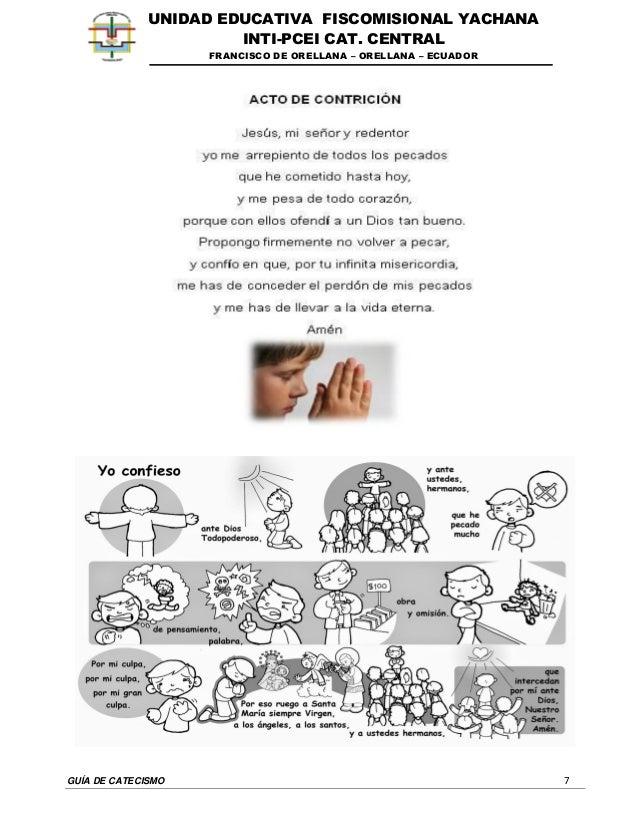 GUÍA DE CATECISMO 7 UNIDAD EDUCATIVA FISCOMISIONAL YACHANA INTI-PCEI CAT. CENTRAL FRANCISCO DE ORELLANA – ORELLANA – ECUAD...