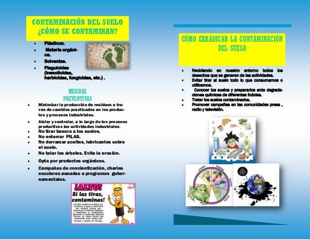 Contaminantes del ambiente laboral for 5 cuidados del suelo
