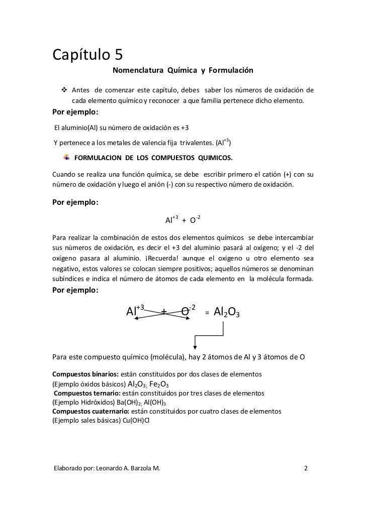 2 captulo 5 nomenclatura qumica - Tabla Periodica De Los Elementos Quimicos Monovalentes