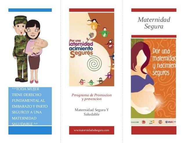 Maternidad  Segura  Prrograma de Promocion  y prevencion  Maternidad Segura Y  Saludable  ww.maternidadsdsegura.com  ^^TOD...