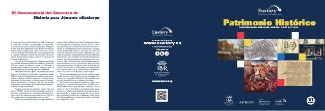 CONCURSO DE HISTORIA PARA JÓVENES. CURSO 2017-2018 EDICIÓN PARA JÓVENES EDICIÓN www.rmcr.org Consulta las bases en www.eus...