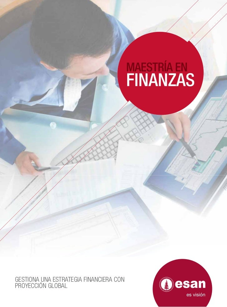 GESTIONA UNA ESTRATEGIA FINANCIERA CONPROYECCIÓN GLOBAL