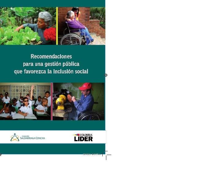 Recomendaciones                    para una gestión pública                 que favorezca la inclusión socialportada.indd ...