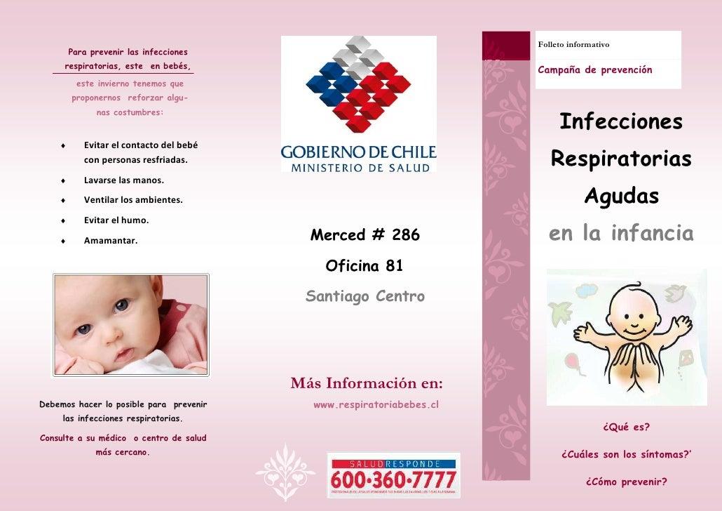 Folleto informativo        Para prevenir las infecciones     respiratorias, este en bebés,                                ...