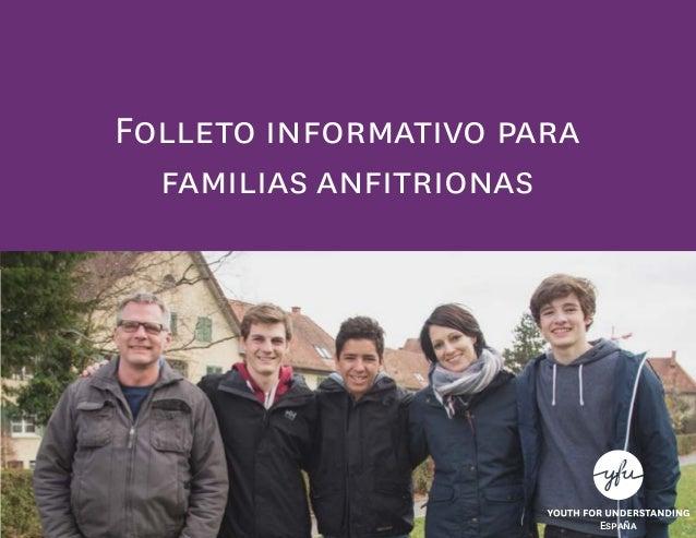Folleto informativo para familias anfitrionas España