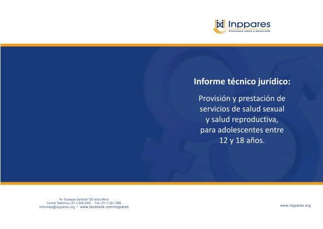 {qylnppores  mm eeee salud y desarrolla                   Informe técnico jurídico:   Provisión y prestación de servicios ...