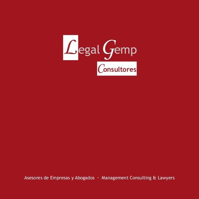 L egalGemp Consultores  Asesores de Empresas y Abogados · Management Consulting & Lawyers