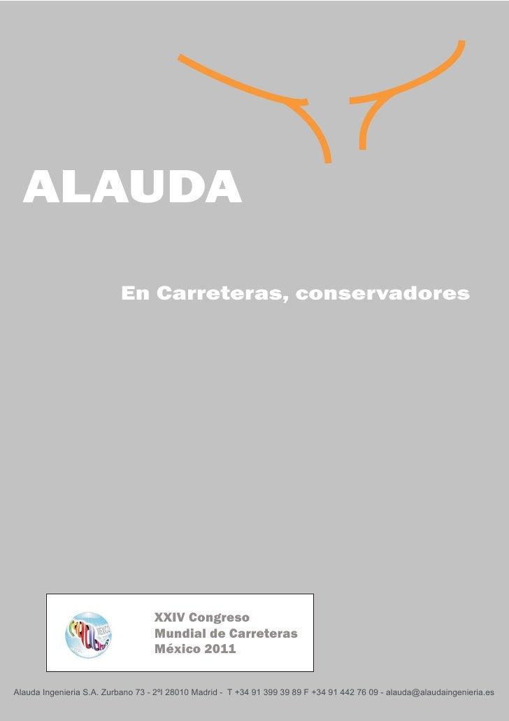 ALAUDA                          En Carreteras, conservadores                                   XXIV Congreso              ...